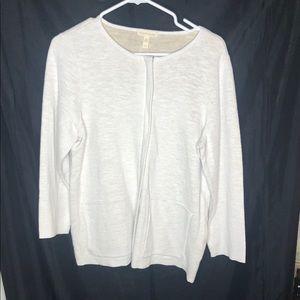 Eileen Fischer front zip jacket cotton/linen NWOT